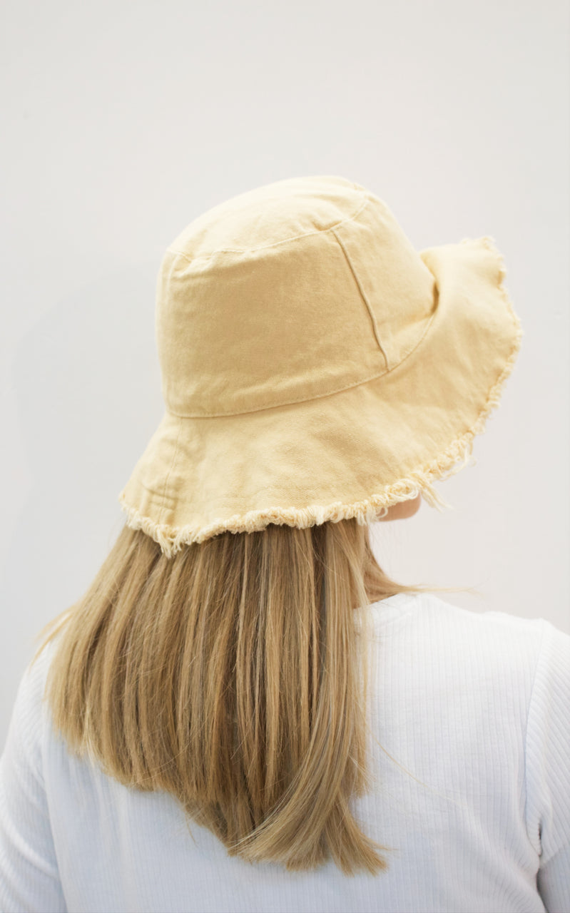 EVA Yellow up-cycled cotton hat