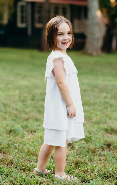 Ruffle Yoke Layered Dress