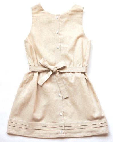 Pleated Button Back Dress