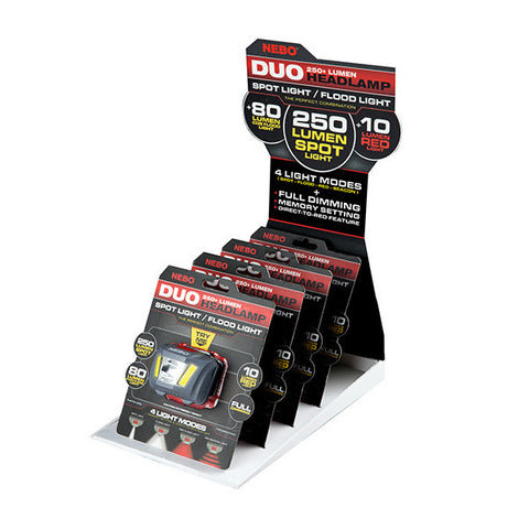 DUO HEADLAMP - COUNTER TOP DISPLAY
