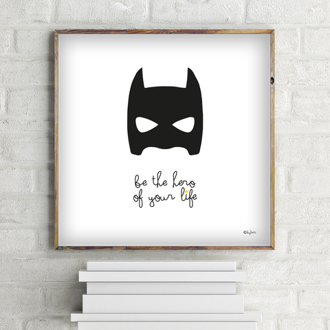 GRAPH M 30*30 | BE A HERO - Atelier M Designs