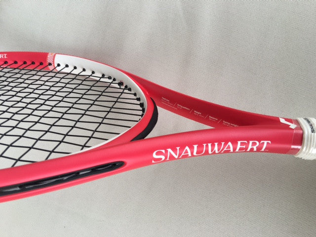 Your company-branded Snauwaert rackets!
