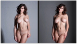 Art-Nude Studio lighting - with one lamp