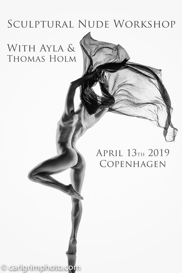 Sculptural Nude Workshop April 13, 2019 - With Ayla, [product_type) - Thomas Holm Photography - CommandoArt.com