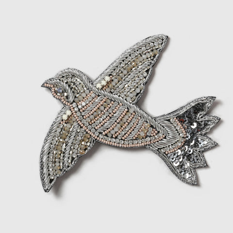 Silver Swift Brooch