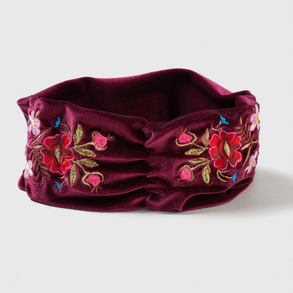 Flora Embroidered Turban