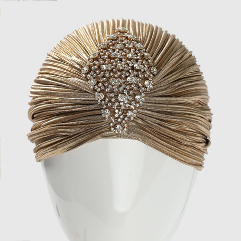 Gold Crystal Turban