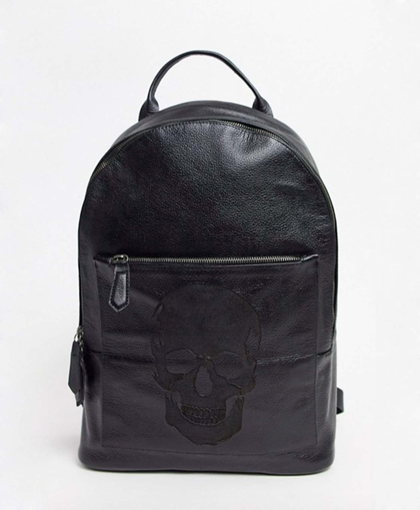 Embossed Skull Backpack