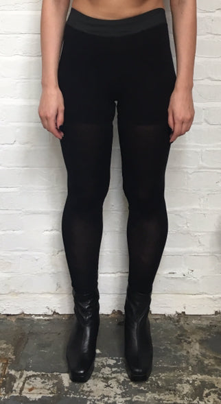 Sheerly Leggings Black