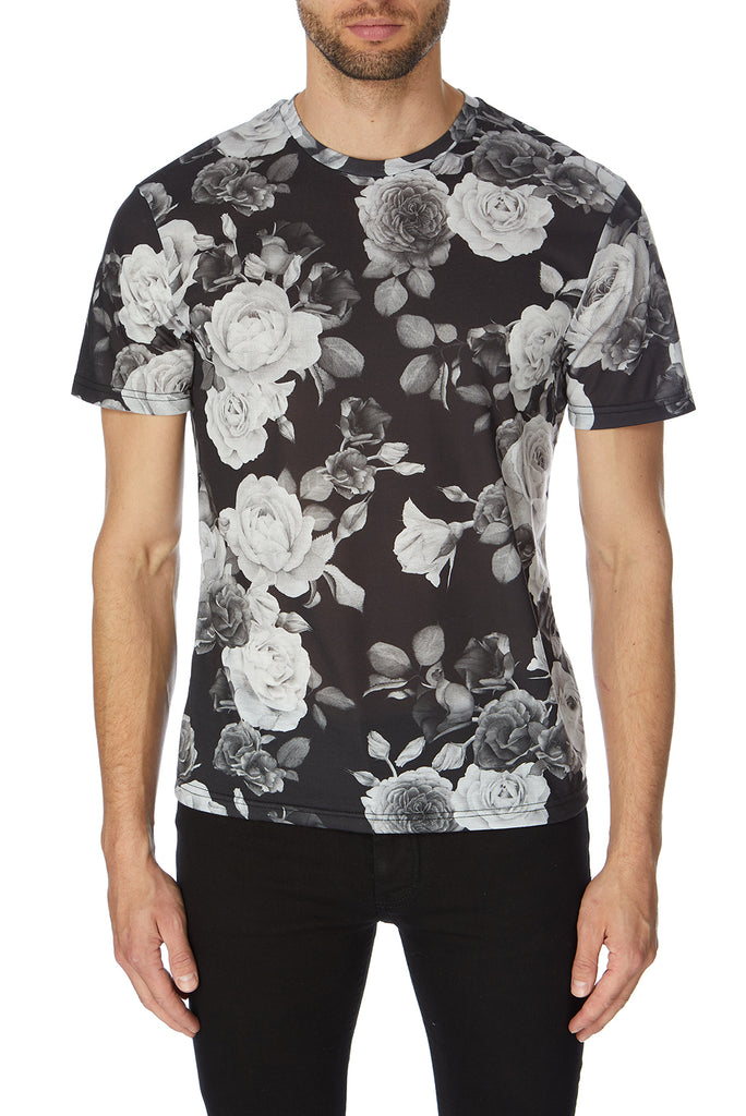 Rose Black and White T-Shirt