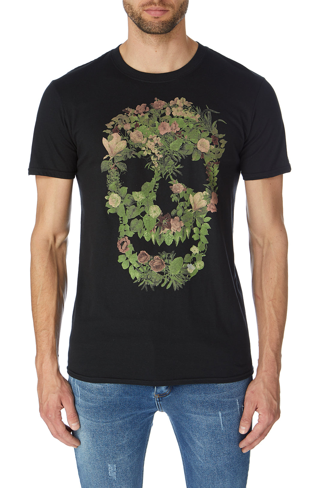 Botanical Skull T-shirt Black
