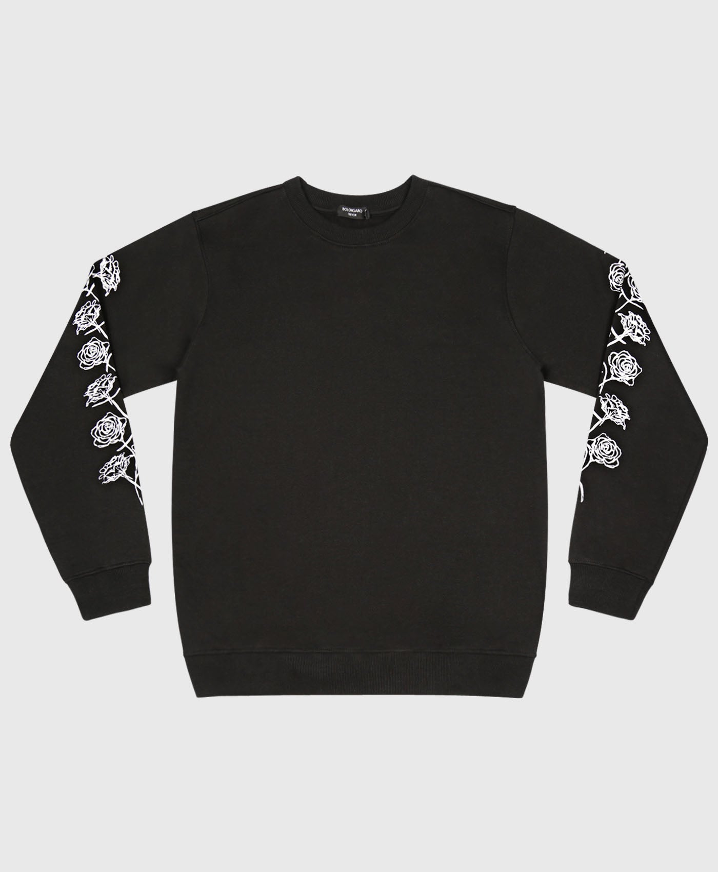 Rose Sleeve Crew Neck Sweat