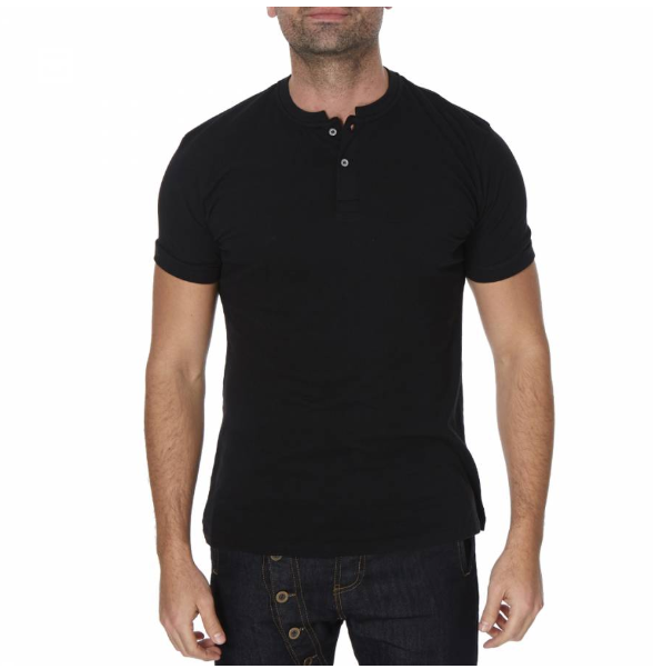 Black Oslo Polo Top