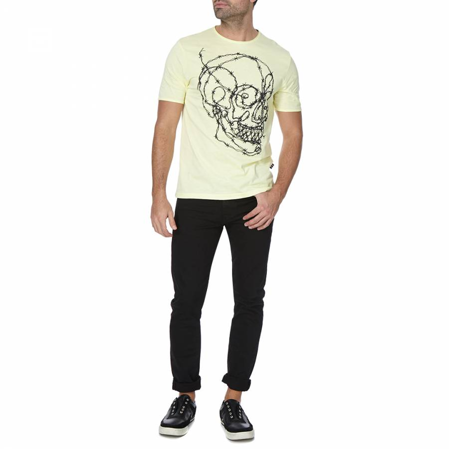 Barbed Skull Tee Yellow
