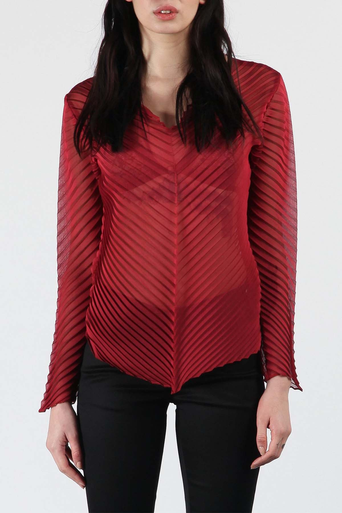 Red Chevron Top
