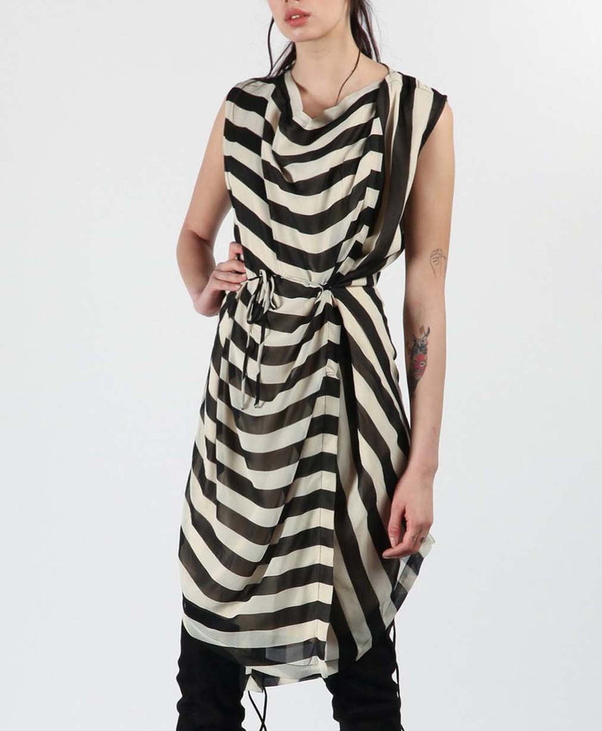 Stripe Drape Dress