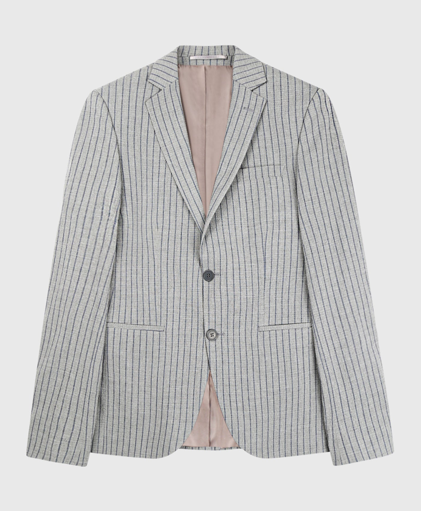 Stripe Seesucker Skinny Suit Jacket