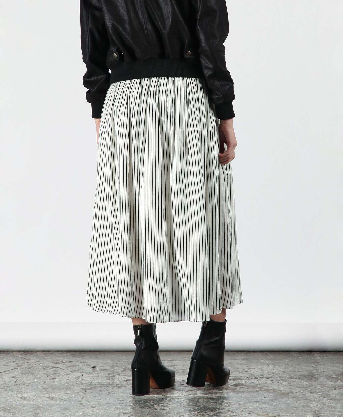 Striped Tuck Skirt