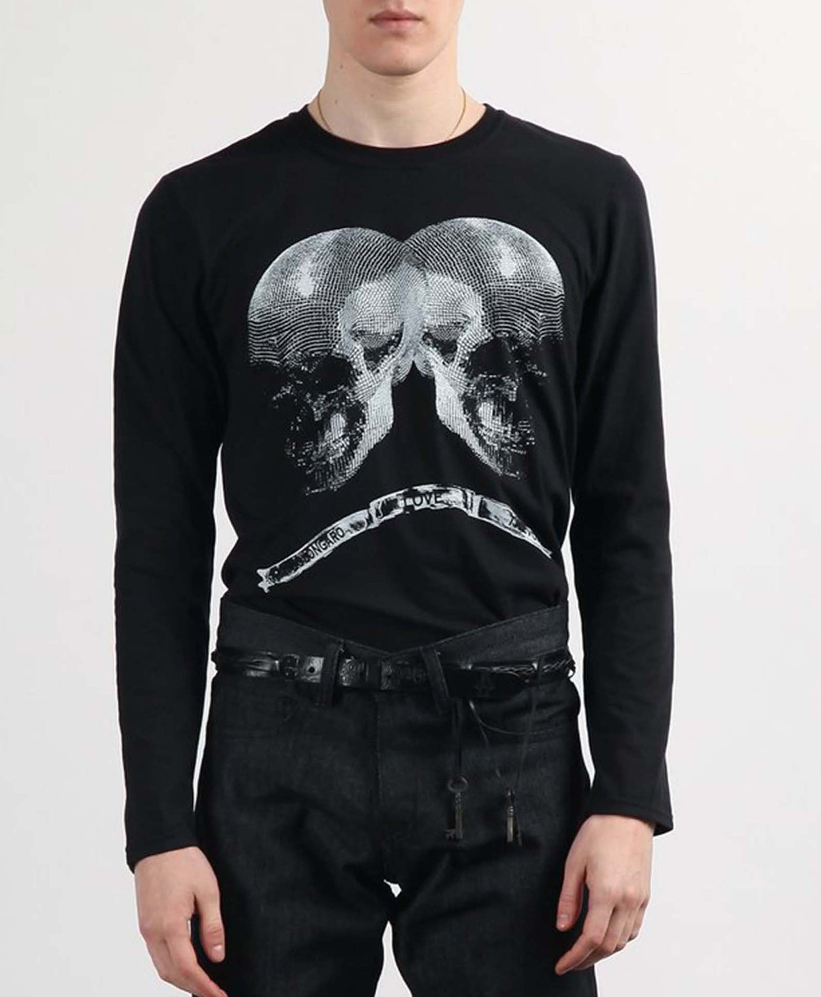 Twin Skull Long Sleeve T-Shirt