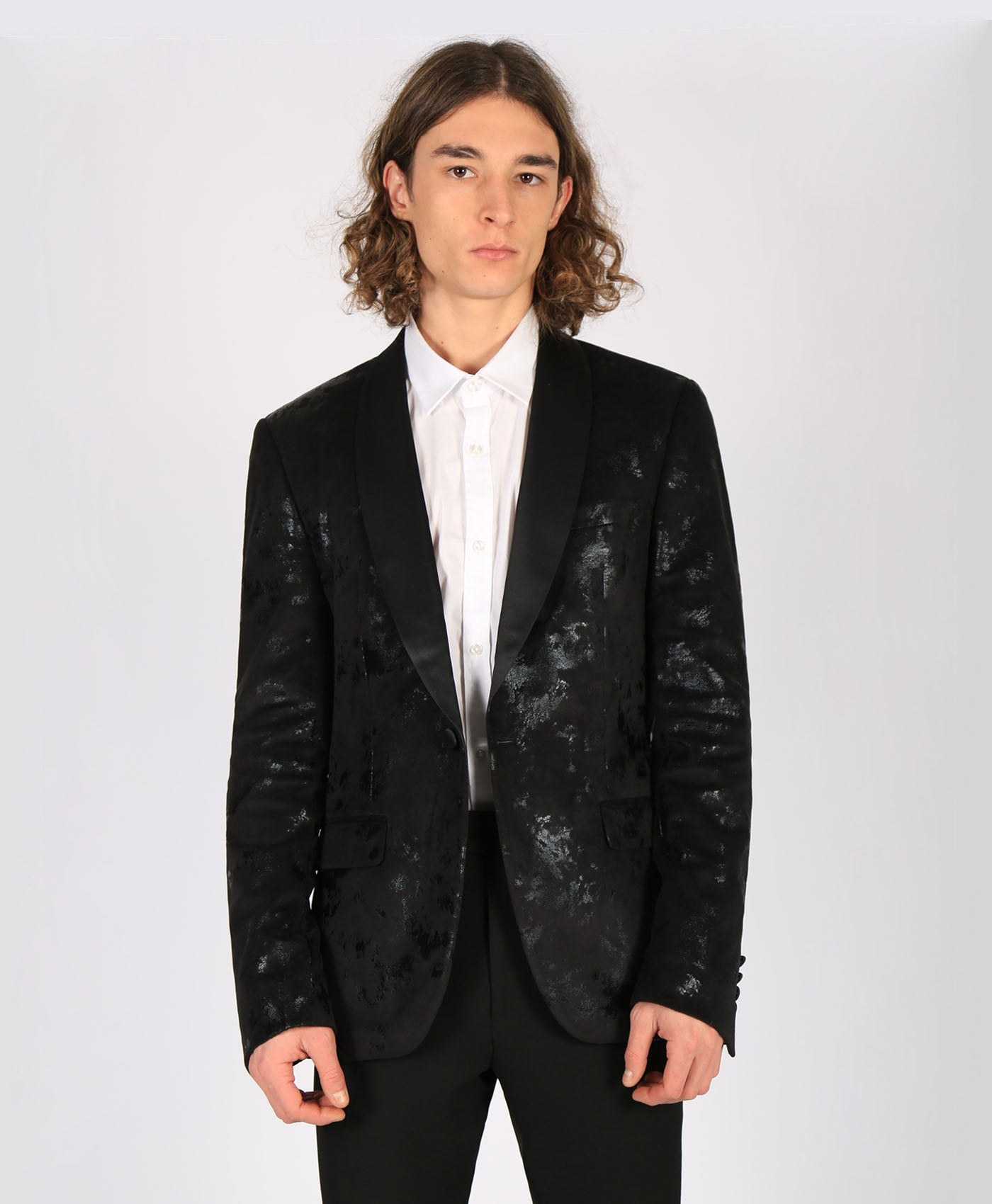 Velvet Flocking Blazer