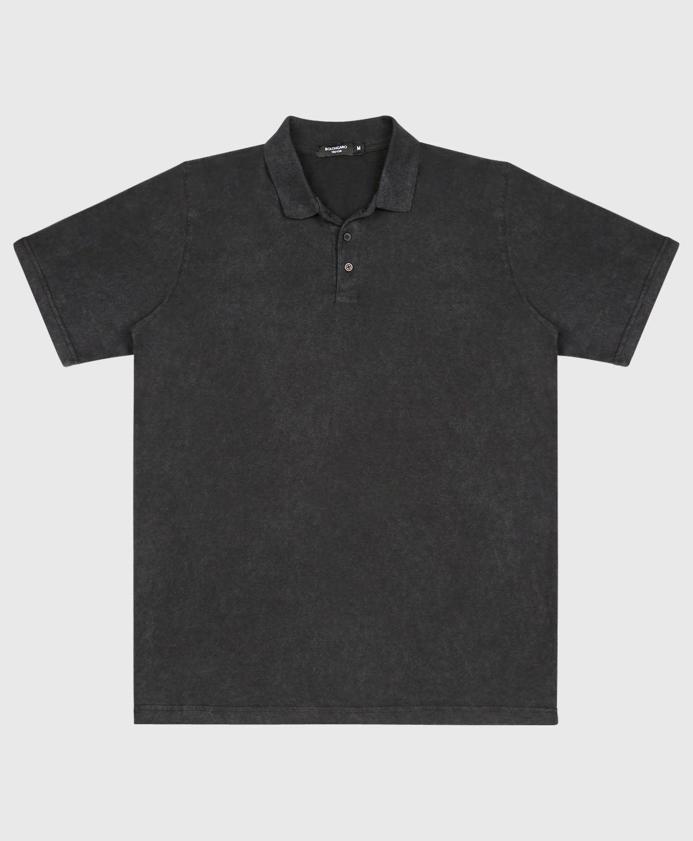 Washed Jersey Polo Shirt