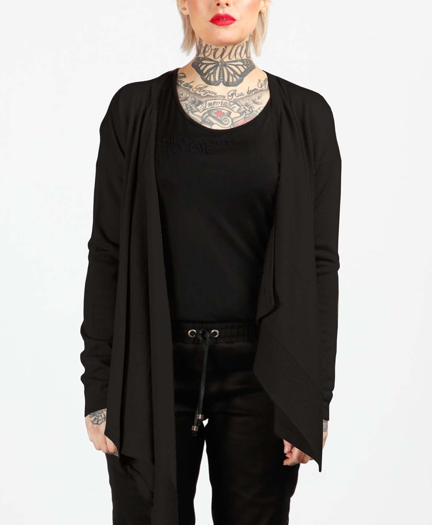 Black Wrap Knit