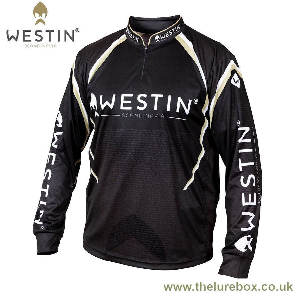 Westin LS Tournament Shirt - Black & Grey - The Lure Box