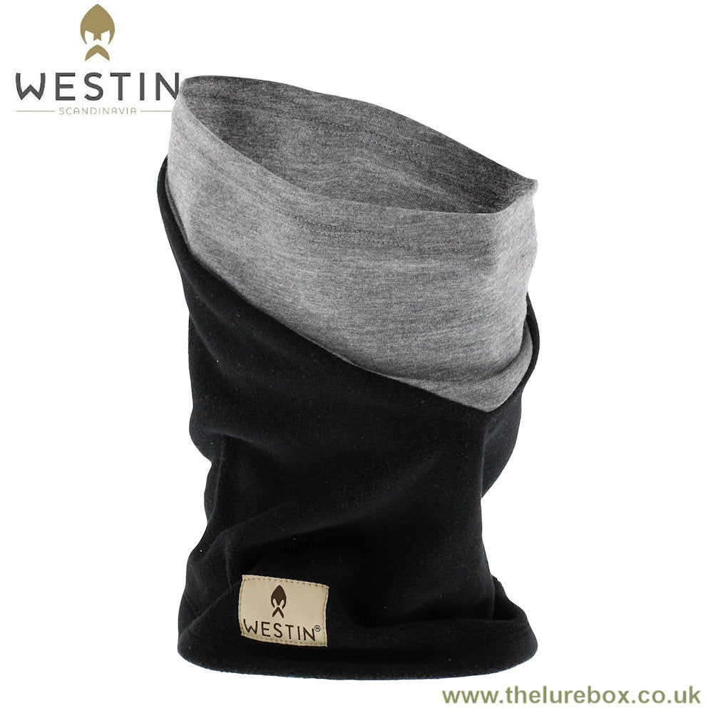 Westin Warm Buff Gaiter One Size Fits All - Black & Grey/Melange - The Lure Box