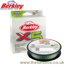 Berkley X5 Braided Fishing Line Low Vis Green - 150m