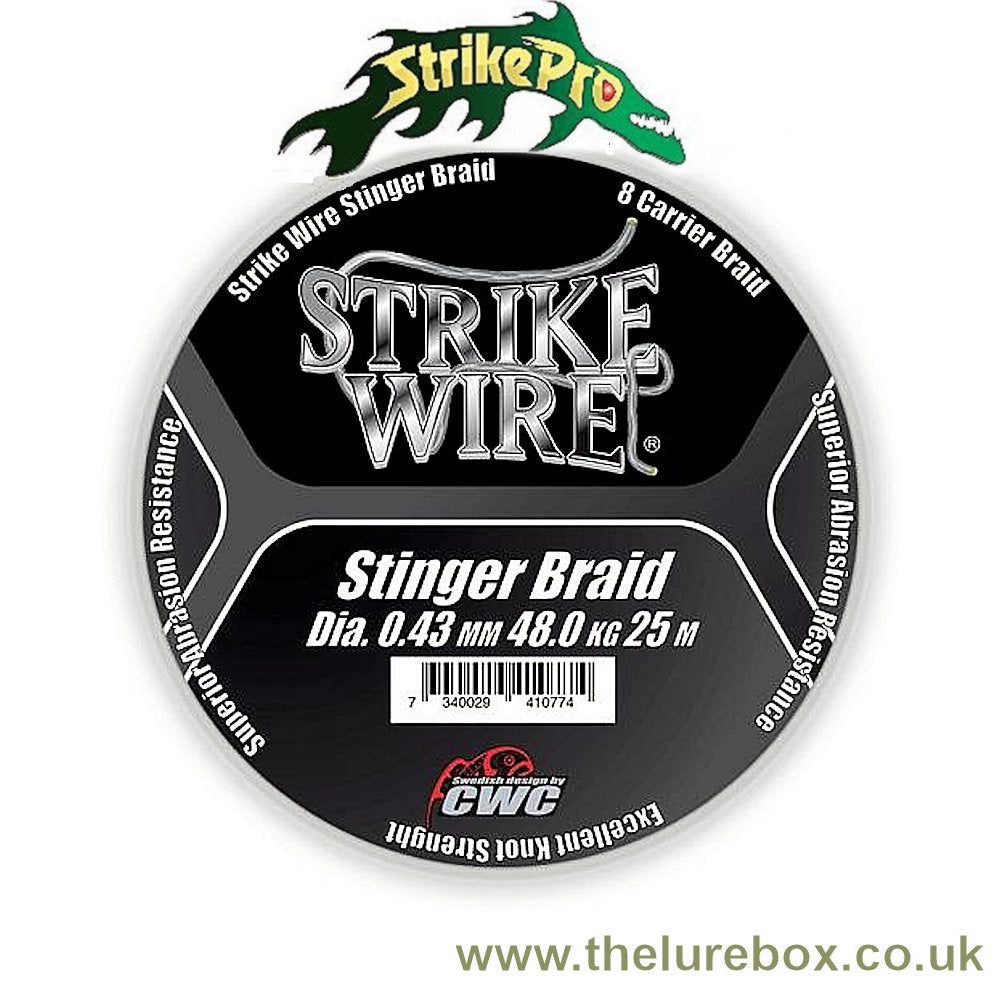 Strike Pro Strike Wire Stinger Braid 48kg, 25m - The Lure Box