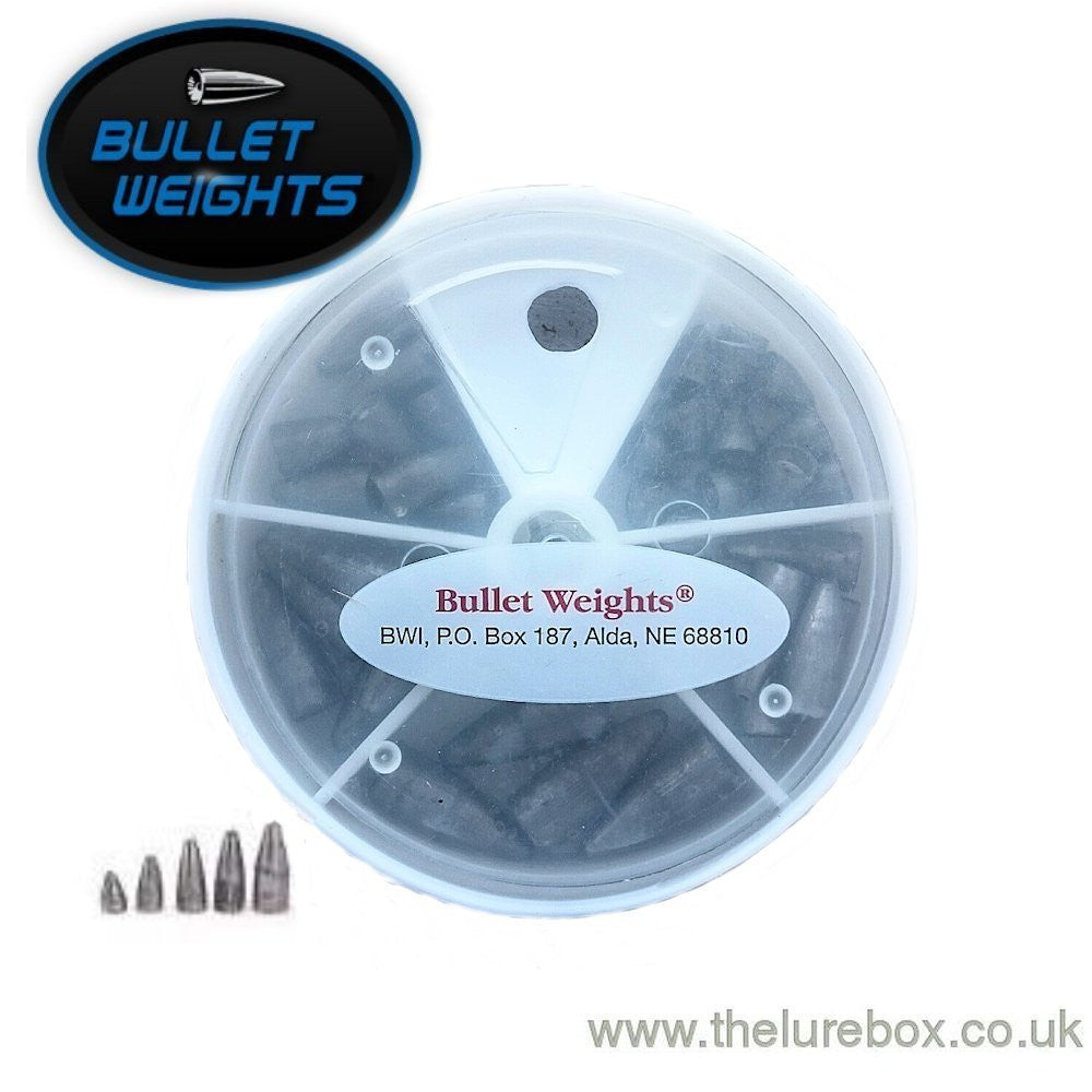 Bullet Weights handy pack for Texas & Carolina rigs Qty 35 - The Lure Box