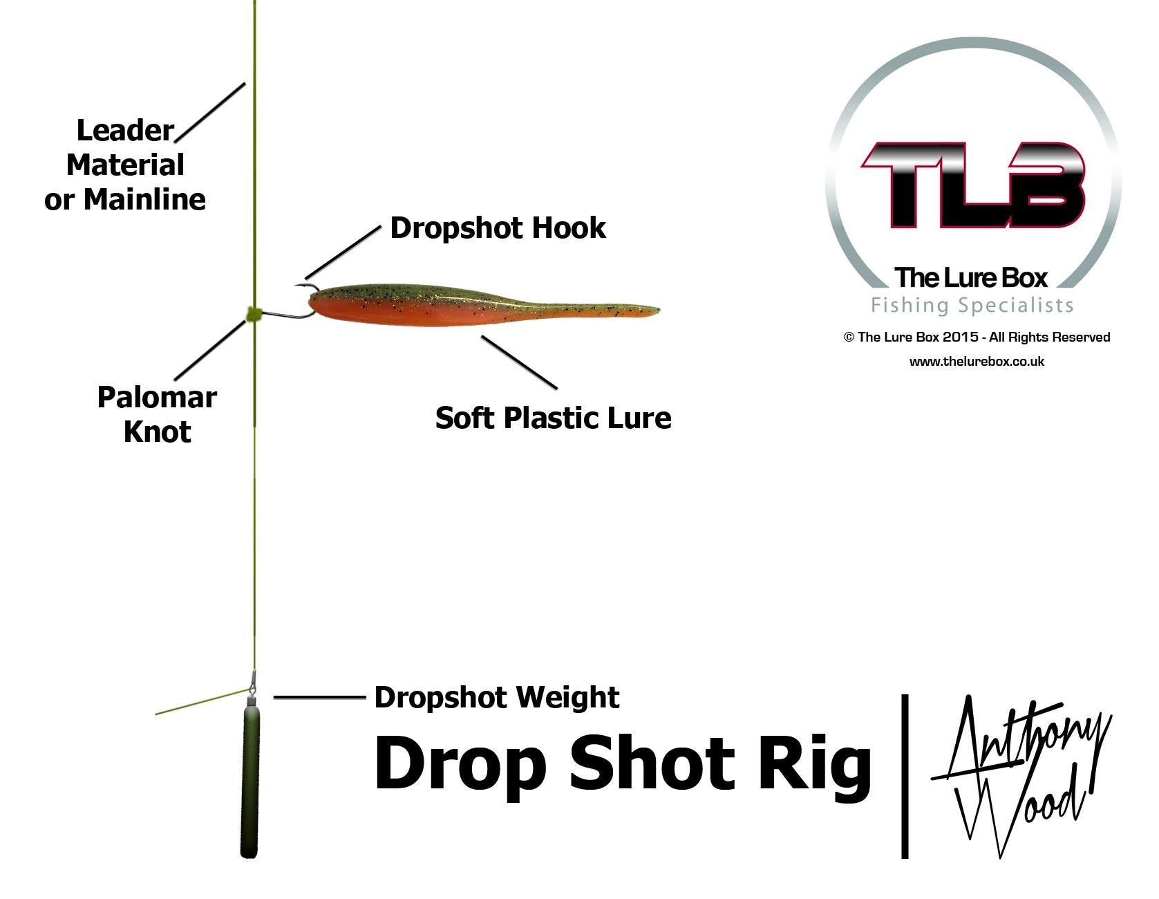 Dropshot rig diagram lure fishing technique the lure for Drop shot fishing