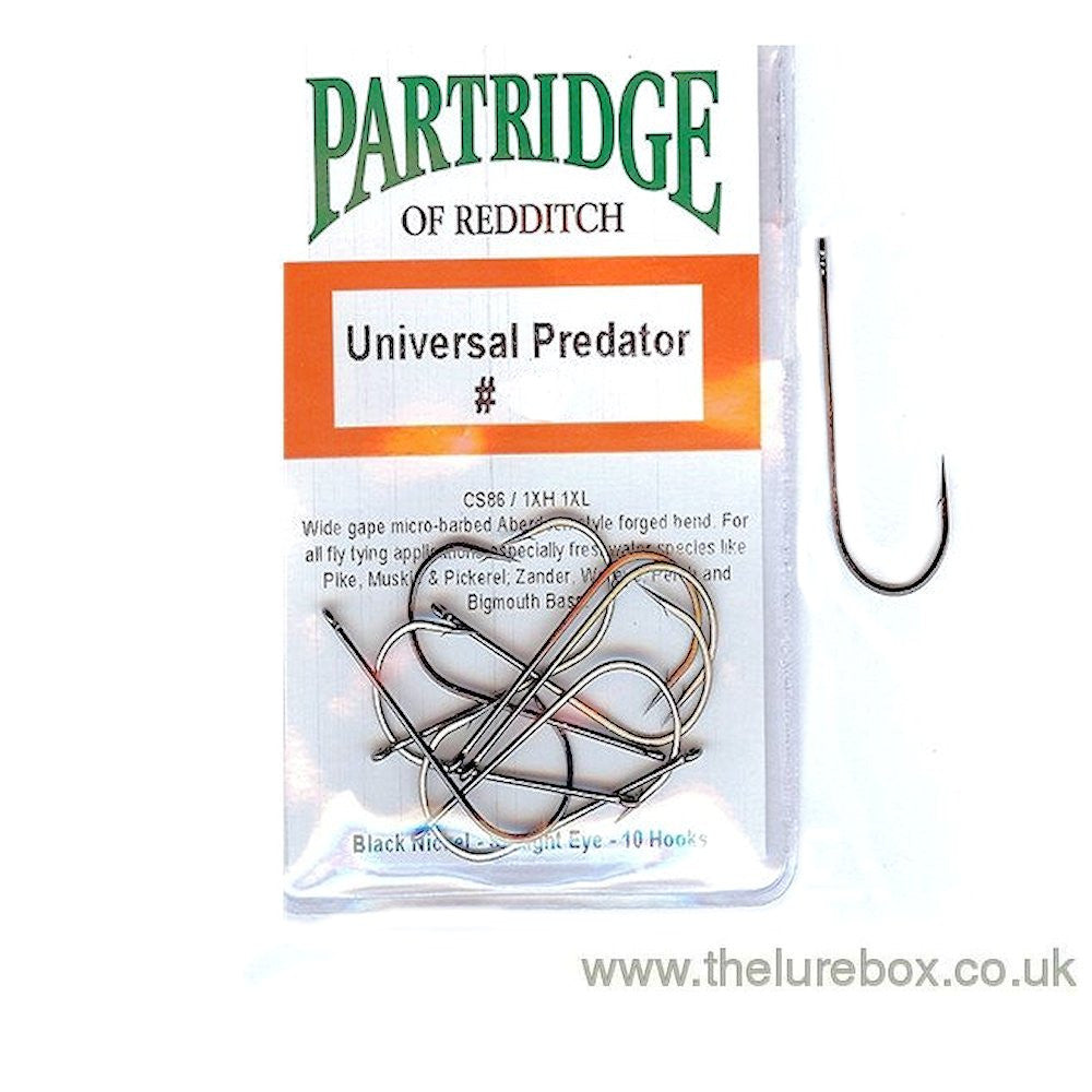 Partridge Universal Predator Fly Hook - The Lure Box