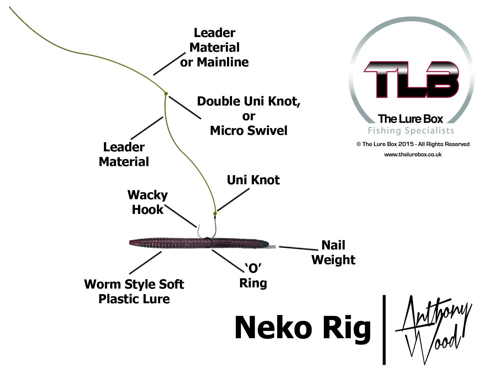 Neko rig diagram lure fishing the lure box the lure box for Neko rig fishing
