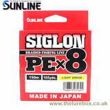 Sunline Siglon PE X8 Braid Light Green - 150m