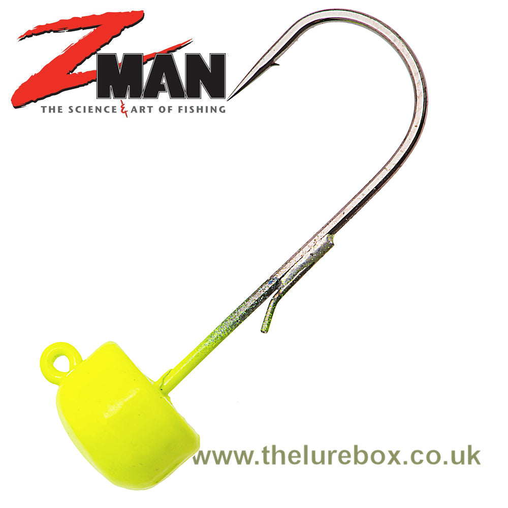 Z-man Finesse ShroomZ Ned Rig Jig Heads - Chartreuse - The Lure Box