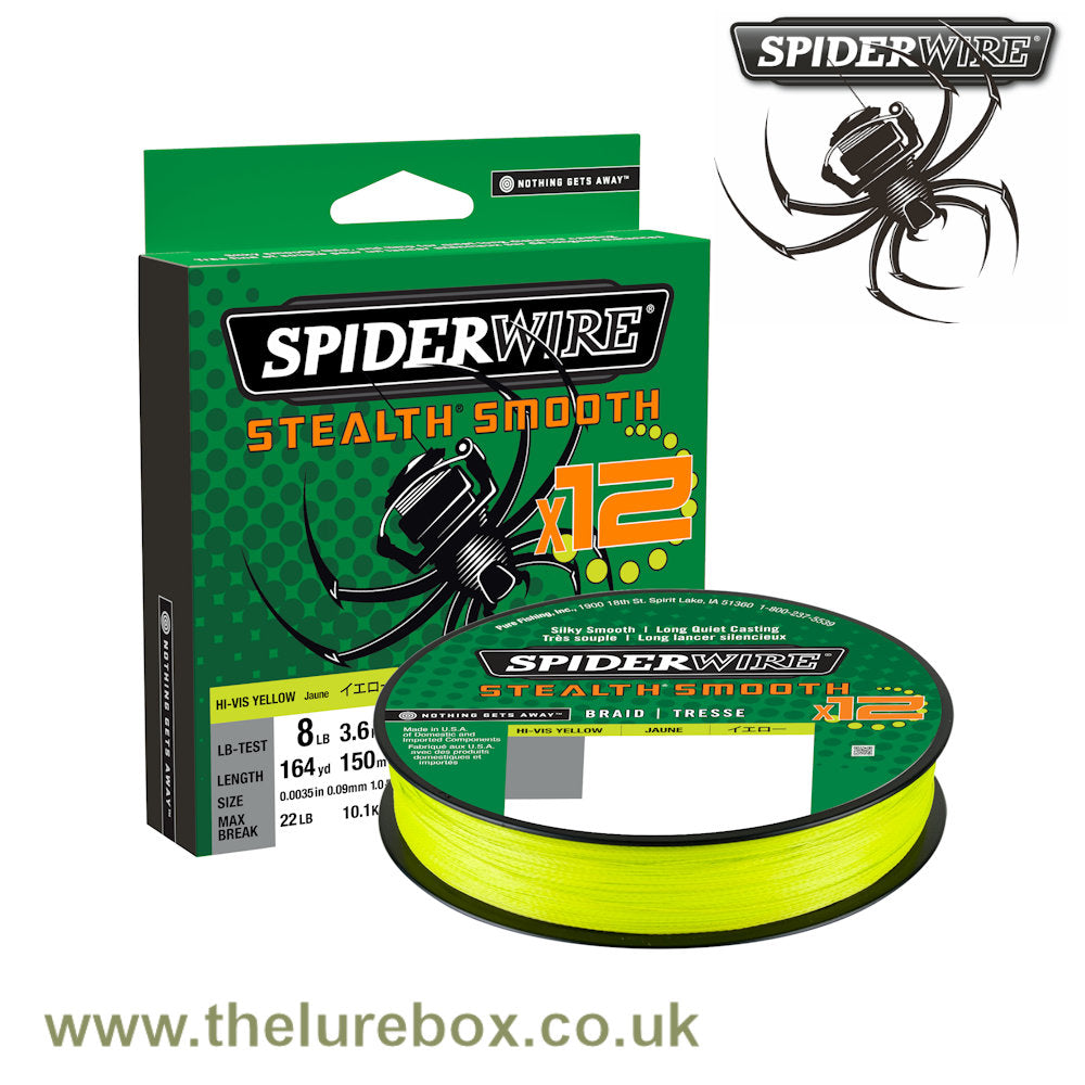 Spiderwire Stealth Smooth X12 Strand PE Braided Line
