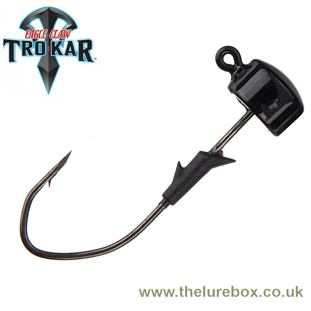 Lazer Trokar Eagle Claw Pro V Finesse Ned Rig Heads - Black - The Lure Box