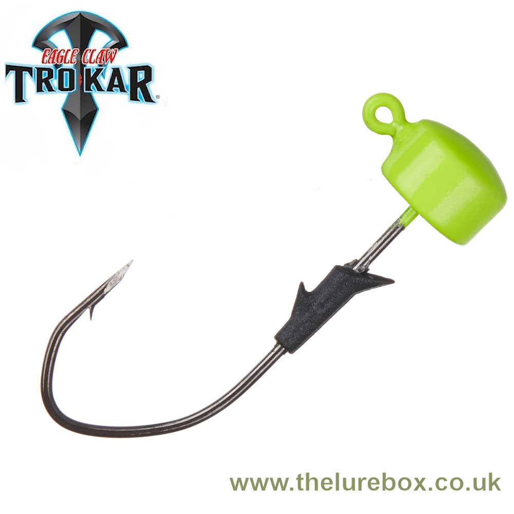 Lazer Trokar Eagle Claw Pro V Finesse Ned Rig Heads - Chartreuse - The Lure Box
