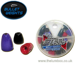 Ultra Steel Painted Bullet Weights Qty 18 handy pack for Texas & Carolina rigs - The Lure Box