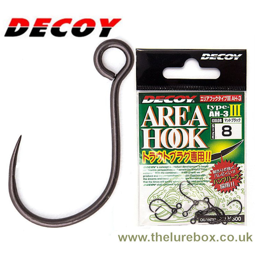 Decoy Area Type 3 Inline Barbless Single Replacement Hooks