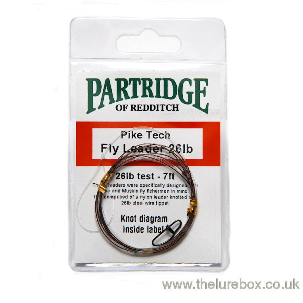 Partridge Ready Made Pike Fly Fishing Leader with AFW Trace - The Lure Box