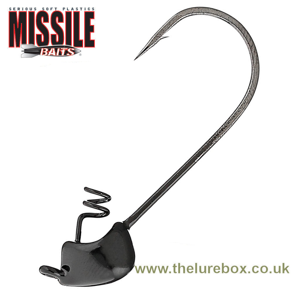 Missile Baits Warlock Shakey Jig Head Black - The Lure Box
