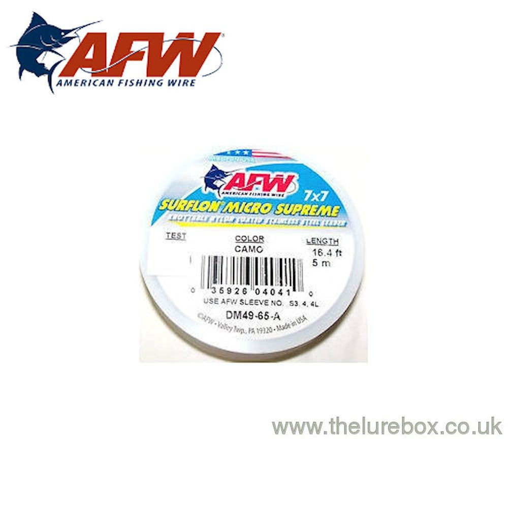 AFW Surflon Micro Supreme Knottable Wire Trace, 49 strand