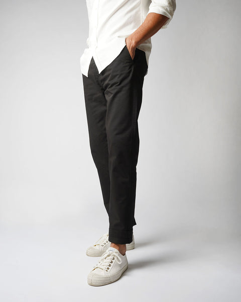 black trousers model side