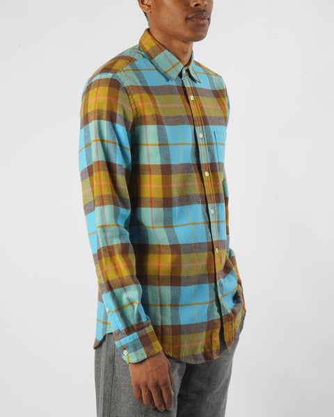 friendly check shirt model side
