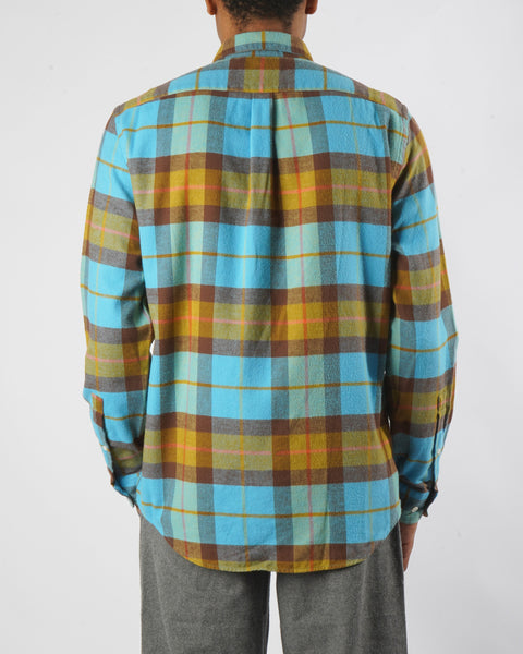 friendly check shirt model back