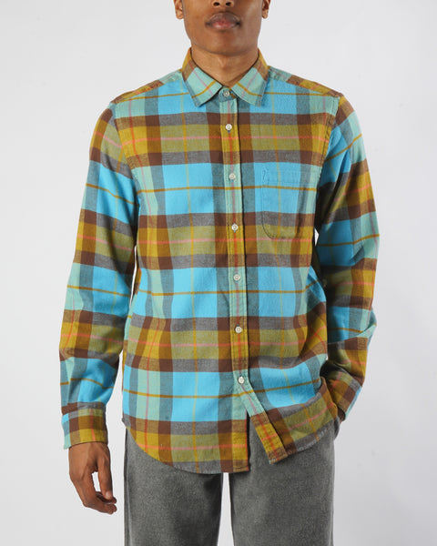 friendly check shirt model front