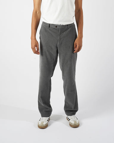 corduroy trousers grey model front