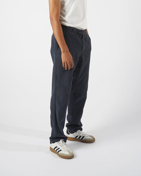 corduroy trousers navy model side